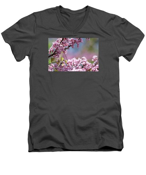Pastel Blossoms Men's V-Neck T-Shirt by Michele Wilson