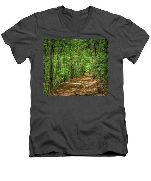 Path Less Travelled - Impressionist Men's V-Neck T-Shirt