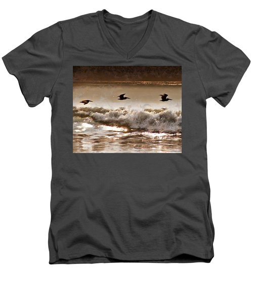 Pelican Patrol Men's V-Neck T-Shirt