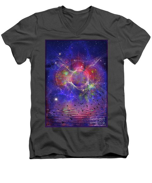 Photon Rings Men's V-Neck T-Shirt