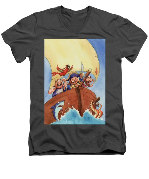 Pirate Ship Men's V-Neck T-Shirt