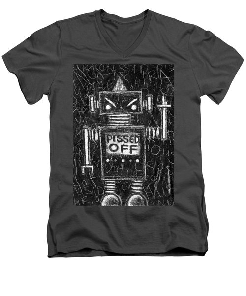 Pissed Off Bot Men's V-Neck T-Shirt