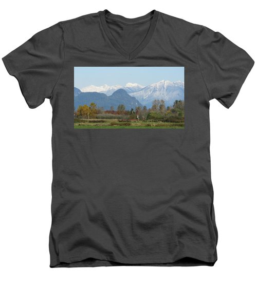 Pitt Meadows Men's V-Neck T-Shirt
