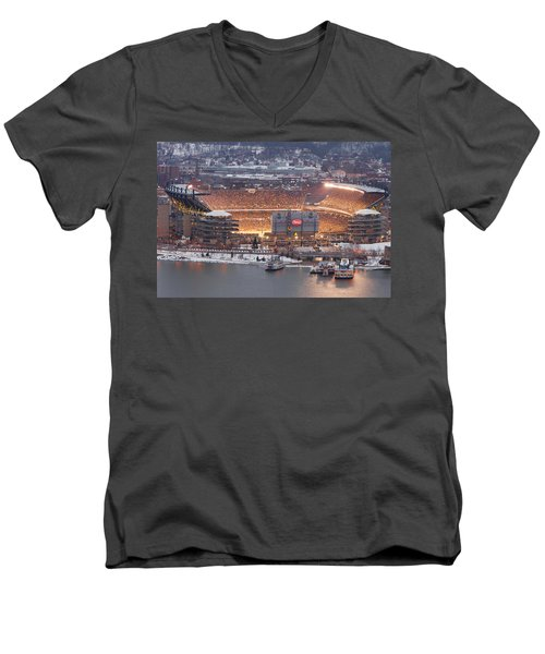 Pittsburgh 4 Men's V-Neck T-Shirt by Emmanuel Panagiotakis