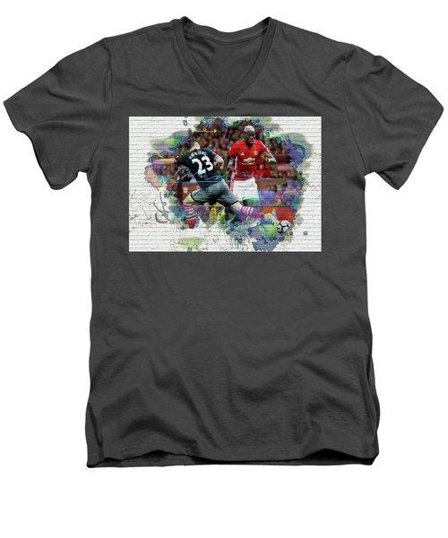 Pogba Street Art Men's V-Neck T-Shirt by Don Kuing
