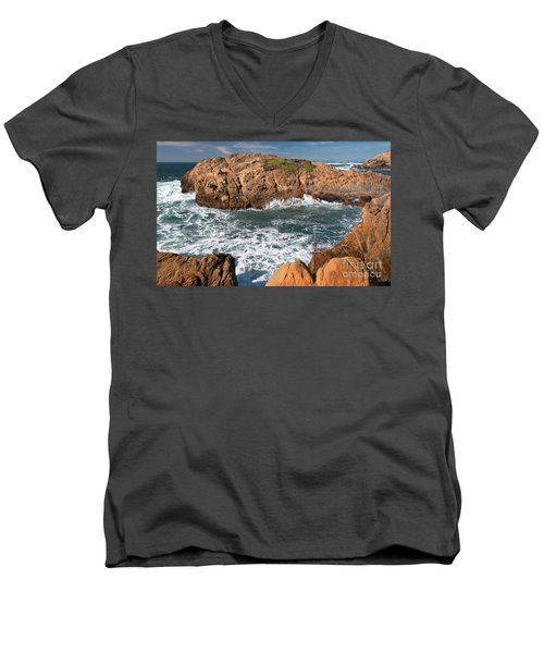 Point Lobos Men's V-Neck T-Shirt by Glenn Franco Simmons