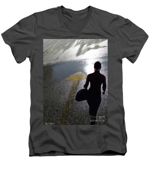 Point The Way Men's V-Neck T-Shirt by Lyric Lucas