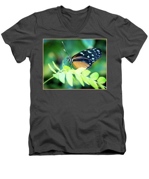 Men's V-Neck T-Shirt featuring the photograph Pondering by Deborah Klubertanz