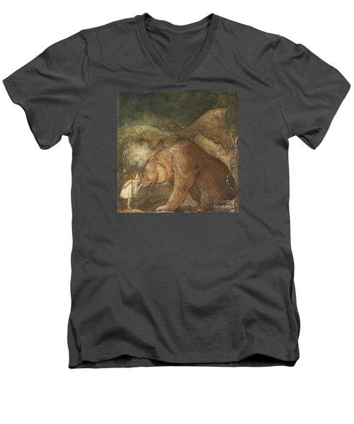 Poor Little Bear Men's V-Neck T-Shirt