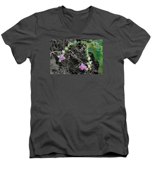 Men's V-Neck T-Shirt featuring the photograph Pop Of Color  by Deborah  Crew-Johnson