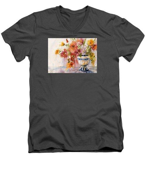 Poppies Men's V-Neck T-Shirt by Judith Levins