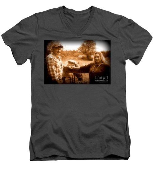 Pretty Men's V-Neck T-Shirt