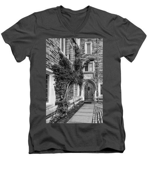 Men's V-Neck T-Shirt featuring the photograph Princeton University Foulke Hall II by Susan Candelario