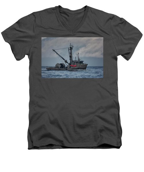 Men's V-Neck T-Shirt featuring the photograph Prosperity by Randy Hall