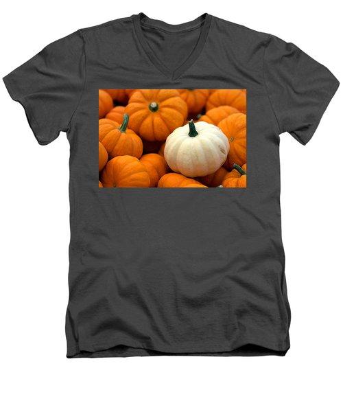 Pumpkins Men's V-Neck T-Shirt by Joseph Skompski