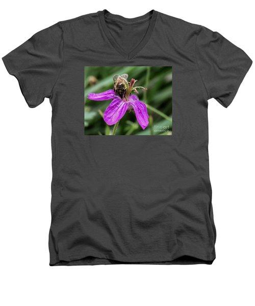 Purple Flower 3 Men's V-Neck T-Shirt