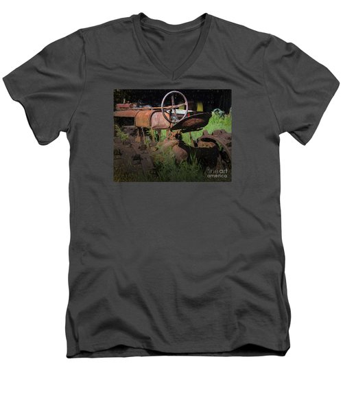 Put Out To Pasture Men's V-Neck T-Shirt by JRP Photography