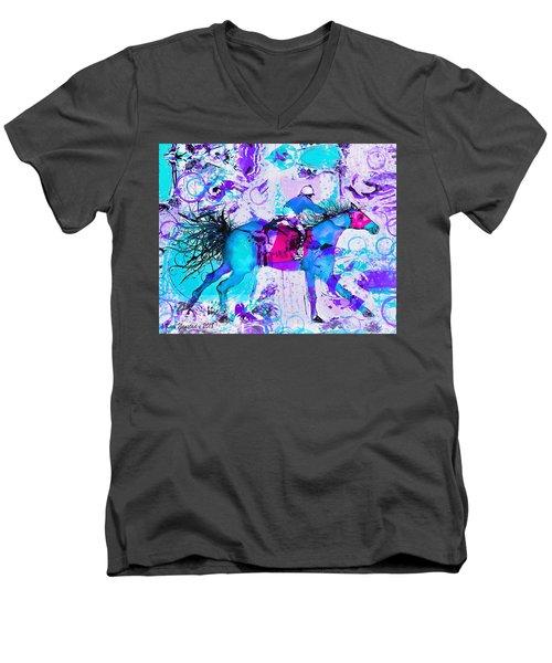 Racing Colors Men's V-Neck T-Shirt