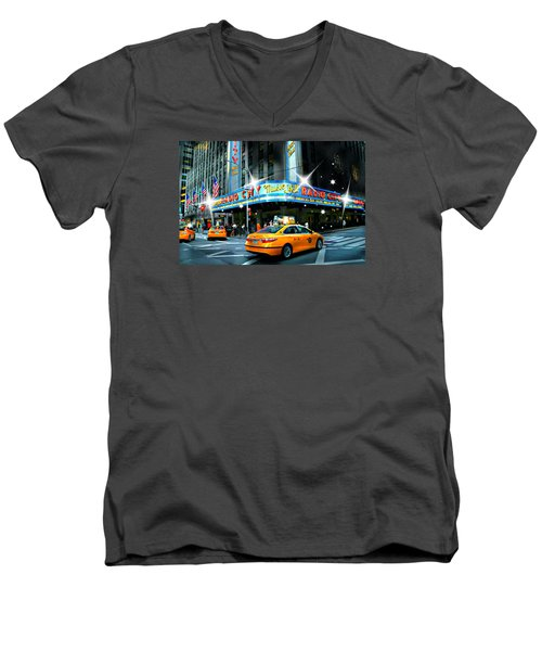 Radio City Men's V-Neck T-Shirt