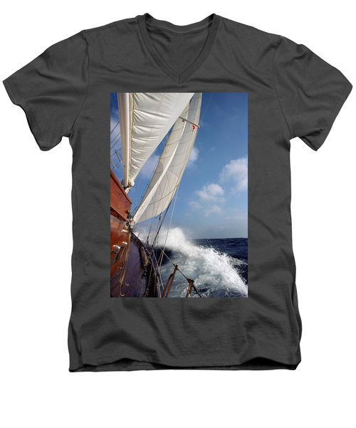 Rail Down Men's V-Neck T-Shirt