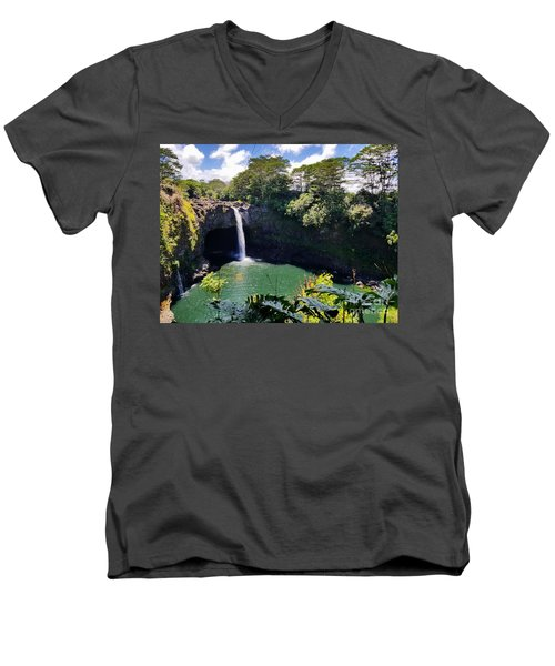 Rainbow Falls Men's V-Neck T-Shirt