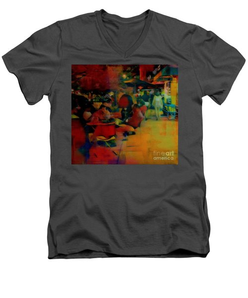 Ranoush Painted Men's V-Neck T-Shirt by Kelly Awad