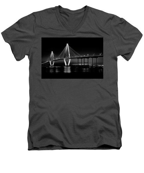 Ravenel Bridge Men's V-Neck T-Shirt by Bill Barber
