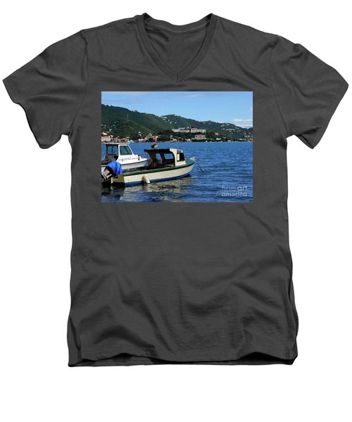 Men's V-Neck T-Shirt featuring the photograph Ready To Go by Gary Wonning