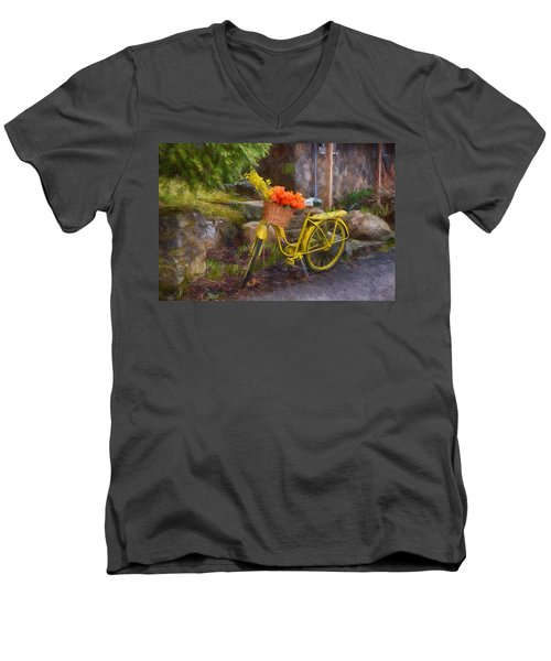 Ready To Go Men's V-Neck T-Shirt by Tricia Marchlik