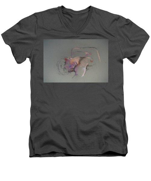 Reclining Study Men's V-Neck T-Shirt