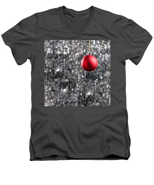 Men's V-Neck T-Shirt featuring the photograph Red Christmas by Ulrich Schade