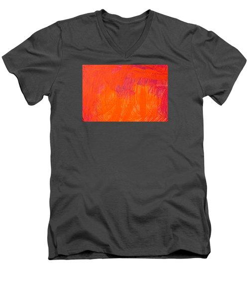 Red Paint Men's V-Neck T-Shirt