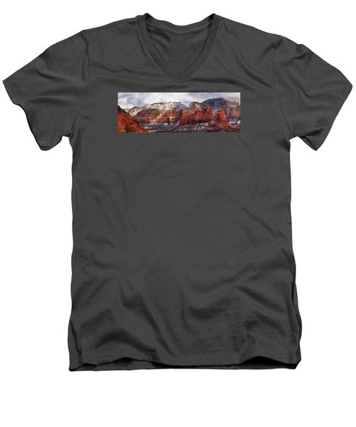 Red Rock Peaks Men's V-Neck T-Shirt