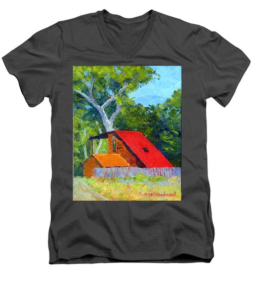Red Roof Men's V-Neck T-Shirt