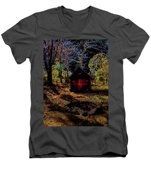 Red Shed Men's V-Neck T-Shirt