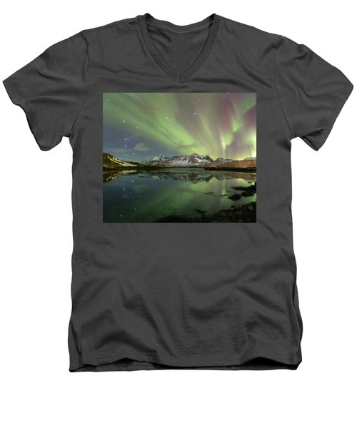 Reflected Lights Men's V-Neck T-Shirt