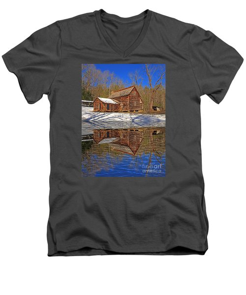 Men's V-Neck T-Shirt featuring the photograph Reflections by Geraldine DeBoer
