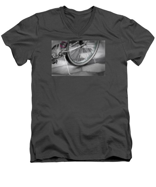 Men's V-Neck T-Shirt featuring the photograph Ride With Me by Carolyn Marshall