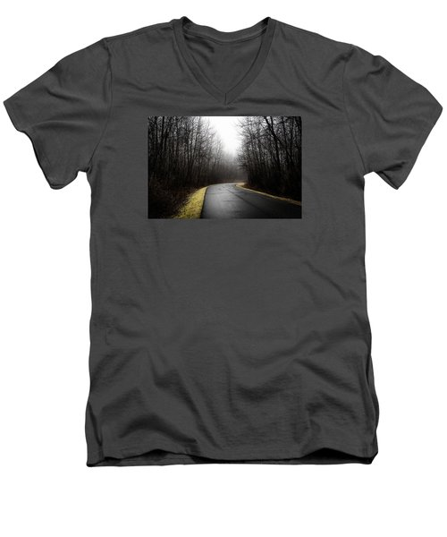 Roads To Nowhere Men's V-Neck T-Shirt by Celso Bressan