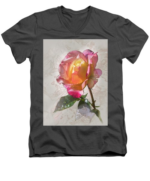 Rosa, 'glowing Peace' Men's V-Neck T-Shirt