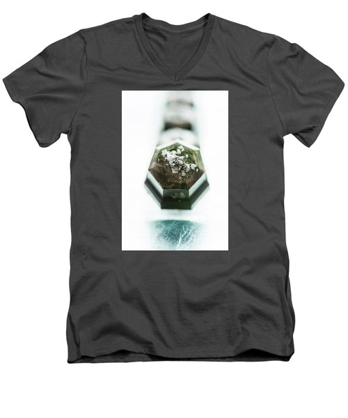Men's V-Neck T-Shirt featuring the photograph Rosemary Chocolate by Sabine Edrissi