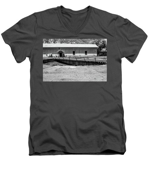 Men's V-Neck T-Shirt featuring the photograph Round And Round by Colleen Coccia