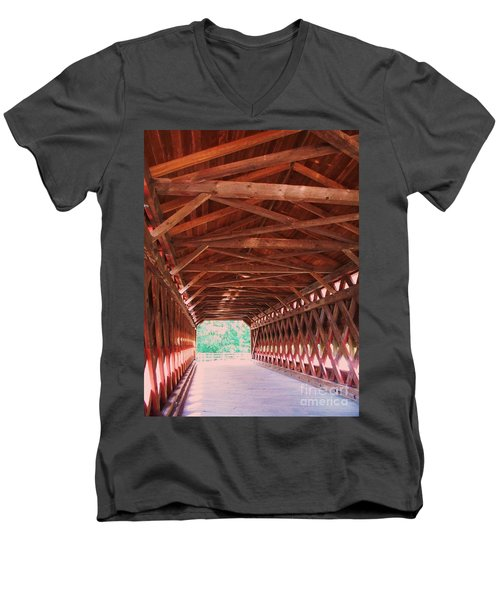 Sachs Bridge Men's V-Neck T-Shirt by Eric  Schiabor