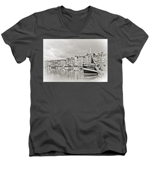 Safe Harbor Men's V-Neck T-Shirt by Catherine Alfidi