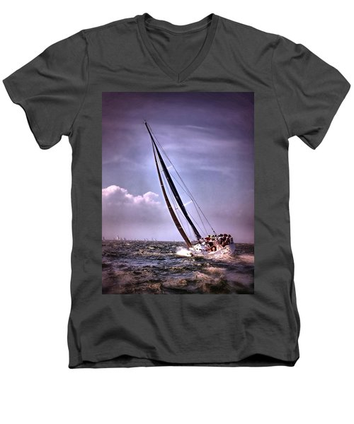 Sailing To Nantucket 003 Men's V-Neck T-Shirt