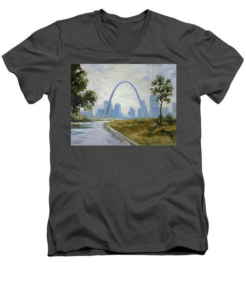 Saint Louis Panorama Men's V-Neck T-Shirt