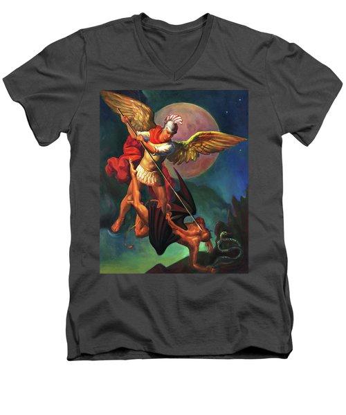 Saint Michael The Warrior Archangel Men's V-Neck T-Shirt