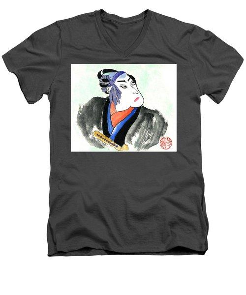 Samurai  Men's V-Neck T-Shirt