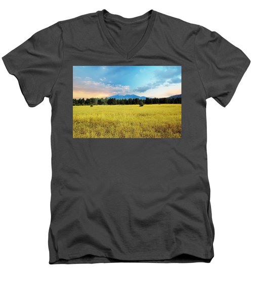 San Francisco Peaks  Men's V-Neck T-Shirt