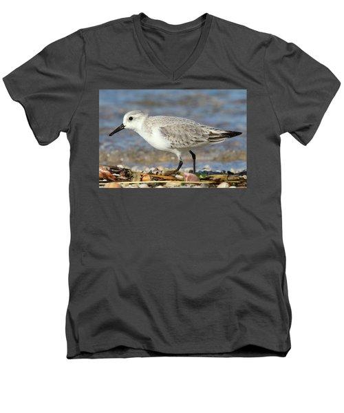 Sanderling Westhampton New York Men's V-Neck T-Shirt by Bob Savage